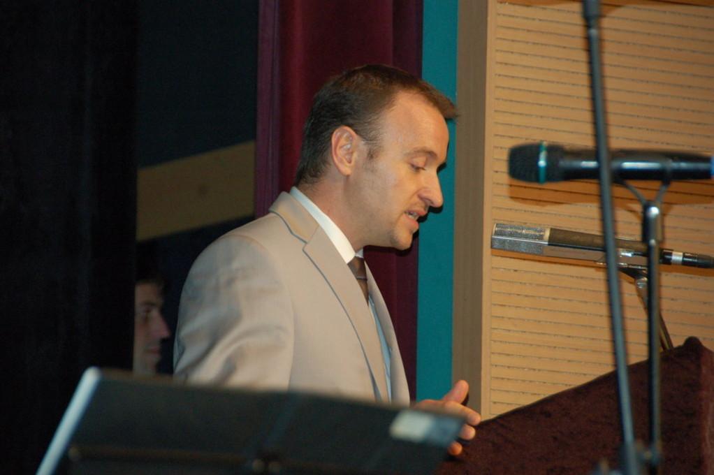 Herr Martin Dzingel, der Präsident der LV eröffnet die Veranstaltung