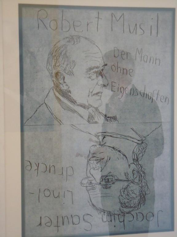 Rezeption des Werkes 'Robert Musils in der Gegenwart - Grafik aus der Grafiksammlung des Stuttgarter Grafikers Joachim Sauter