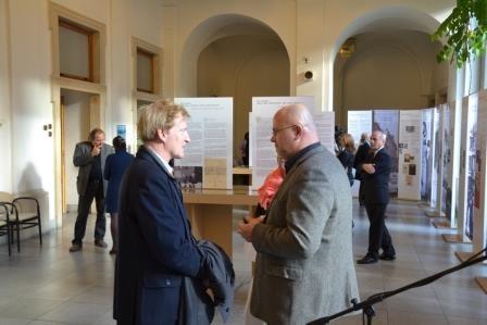 Herr Ralf Kaufmann, Botschaft der Bundesrepublik Deutschland und Herr Dr.Martin Reissner, Direktor des Mährischen Landesmuseums