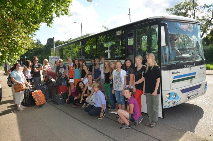 Empfang der Brünner Schüler/innen an der Anne Frank Schule in Stuttgart Möhringen