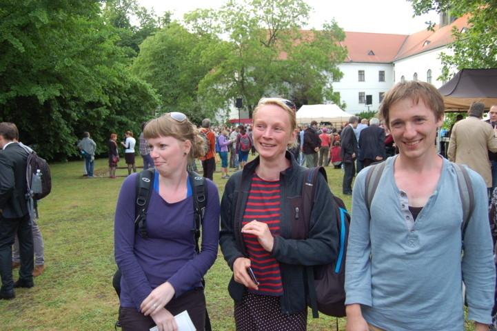 Hana Hrochová mit ihren Gymnasiastinnen,