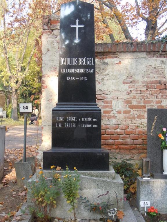 Grab der Familie Dr. Julius Brügel, k.k. Landesgerichtsrats zusammen mit einer Erinnerung an den Brünner Sozialdemokraten Johann Wolfgang Brügel