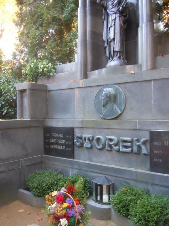 Das Grabmal der Familie Storek, einer der größten ehemaligen Industriellen Brünns