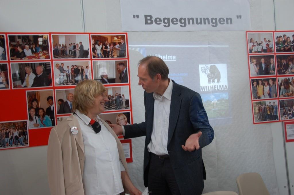 Dr. Peter Becher zu Besuch an unserem Stand