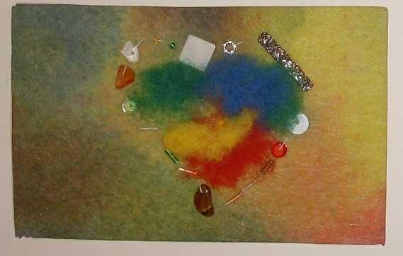 Filzen, Sticken, Nähen auf Artist Mailing Cards