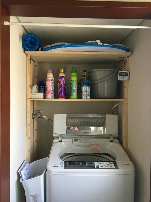 洗濯収納棚