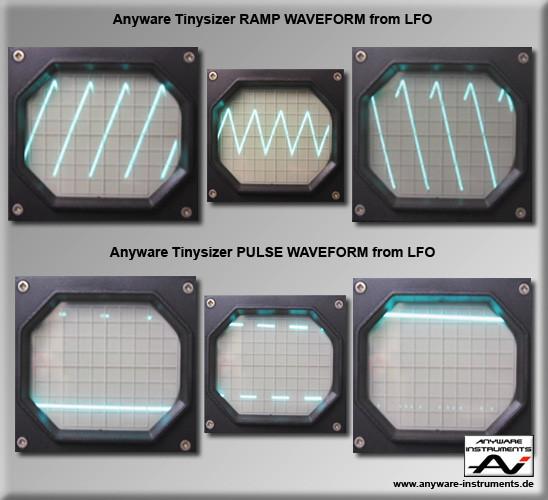 TINYSIZER - low frequency oscillator LFO Waveforms