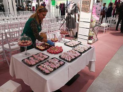 Candy bar en evento de empresa. Mesa dulce en el corte ingles de Cartagena, Murcia. La Dulce Ilusion