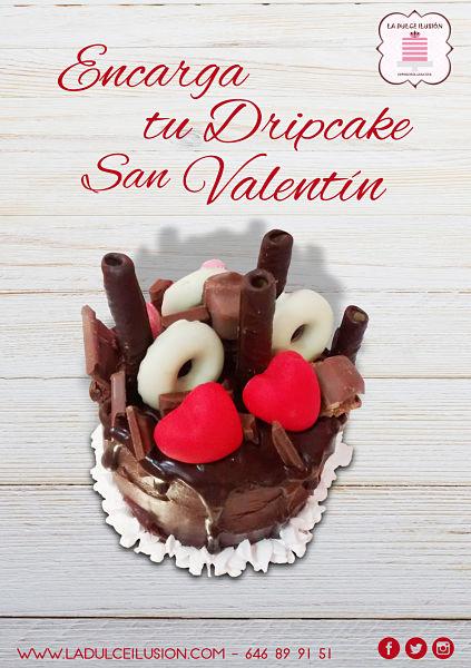 Tarta dripcake en Cartagena, Murcia. Tarta especial san valentin. Tarta dripcake en Cartagena. Reposteria dia de los enamorados en Cartagena, Murcia.