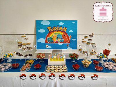 candy bar y mesa dulce Pokemon, Picachu en murcia, cartagena