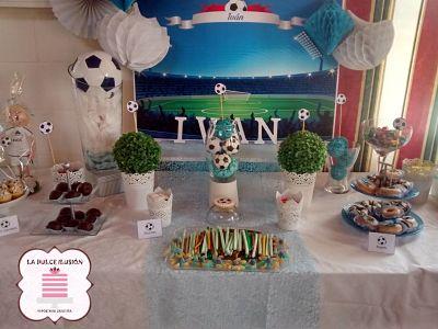 candy bar y mesa dulce de futbol en murcia, cartagena