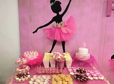candy bar y mesa dulce bailarina o princesa en murcia, cartagena. La dulce ilusion