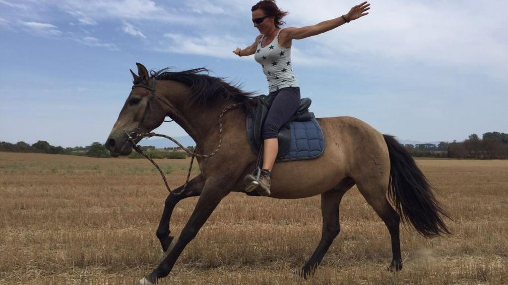 Pasión para los caballos y la equitación