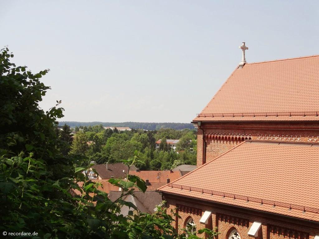 Blick vom Gottesacker auf Rottenburg a. d. Laaber