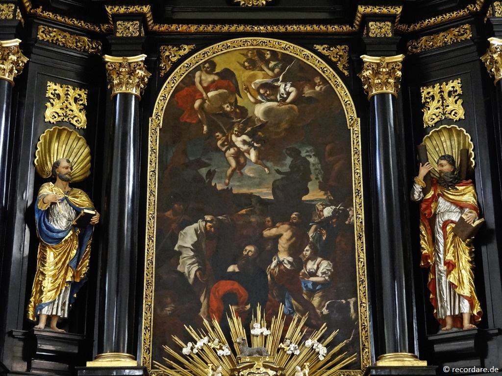 """Altargemälde """"Martyrium des Paulus"""""""
