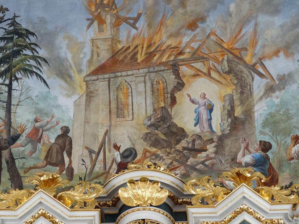 Fresko: Brand der Sühnekapelle