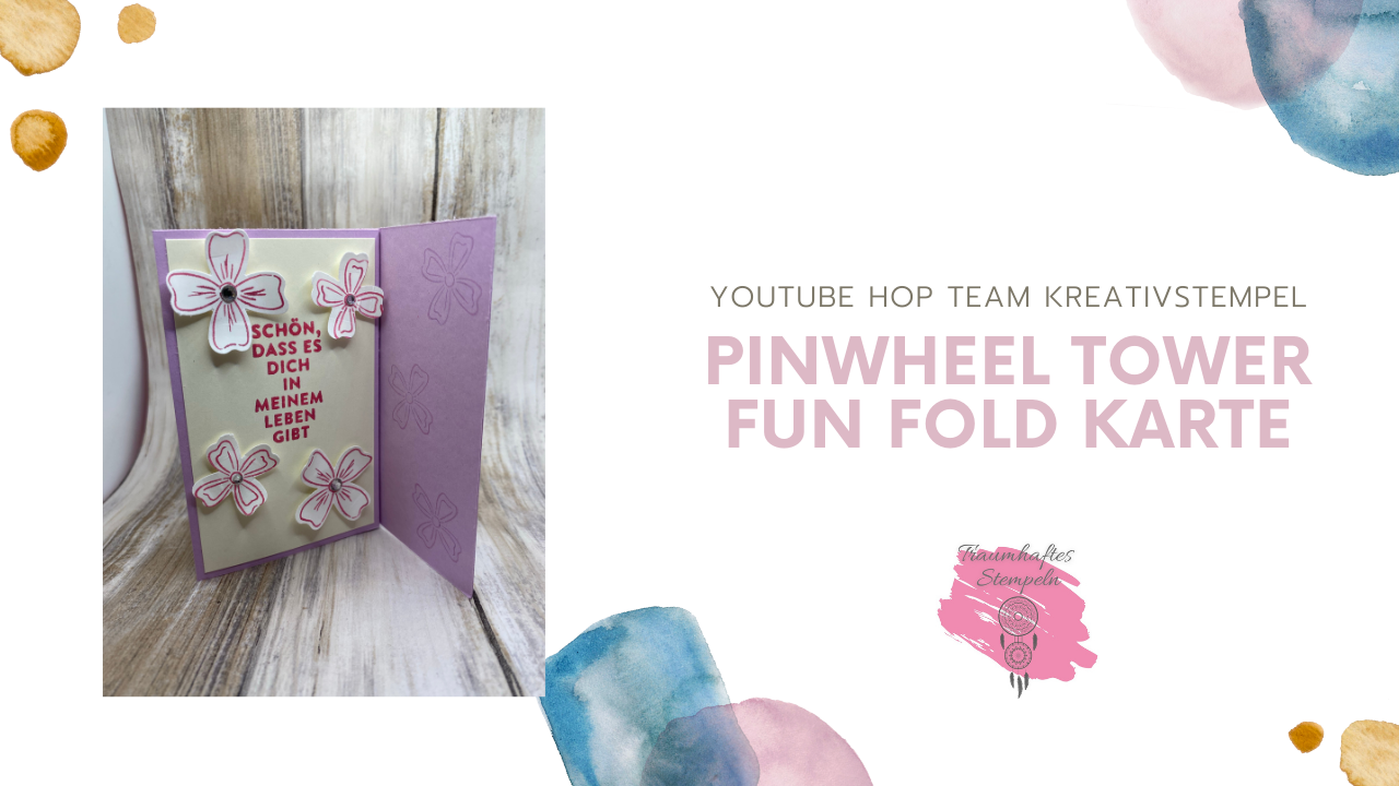 YouTube Hop - Pin Wheel Tower Fun Fold Card
