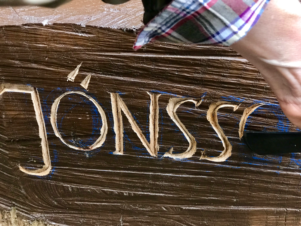 Inschrift Figurenbeute Jönsson
