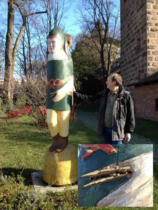 Imker Walter Lukas vom Zeidlerverein Kloster Pillenreuth bei der 1. Stipvesite