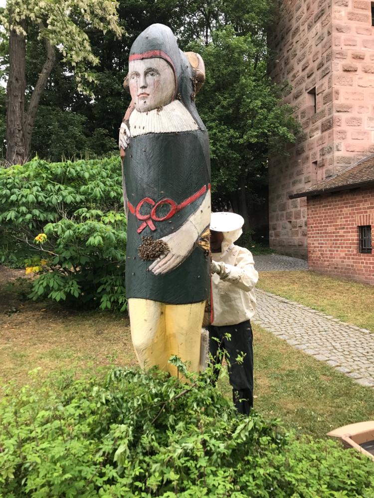 Nürnberger Burg Zeidler mit Schwarm