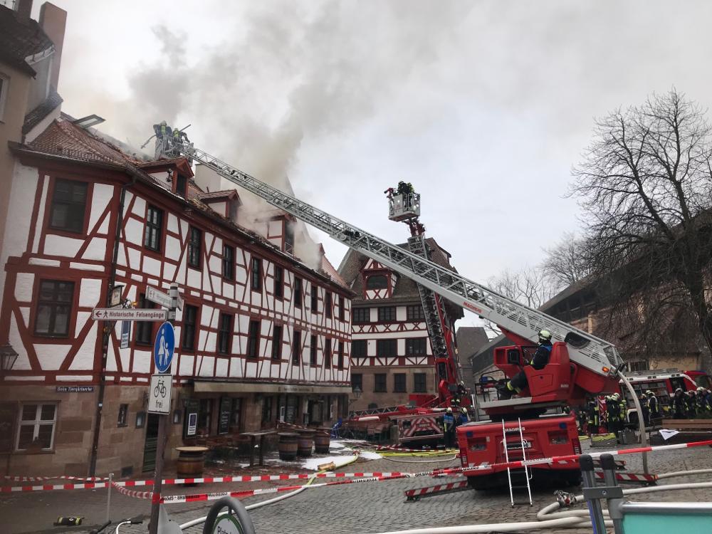 Brand beim Albrecht-Dürer-Haus