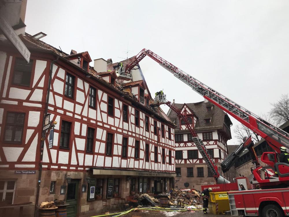 Brand beim Albrech-Dürer-Haus