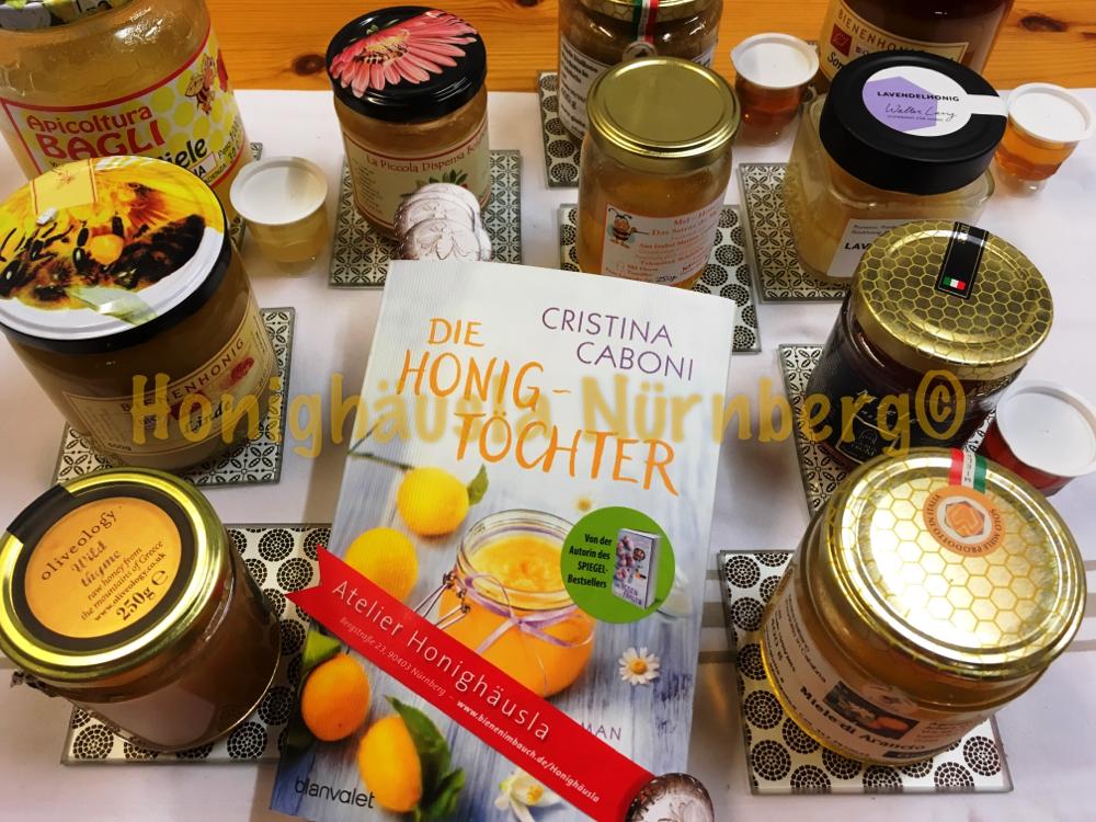 """Zum Buch """"die Honigtöchter """", Honigverkostung im Honighäusla"""