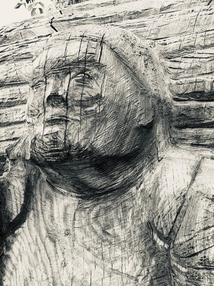 Holzsammlerin Figurenstock