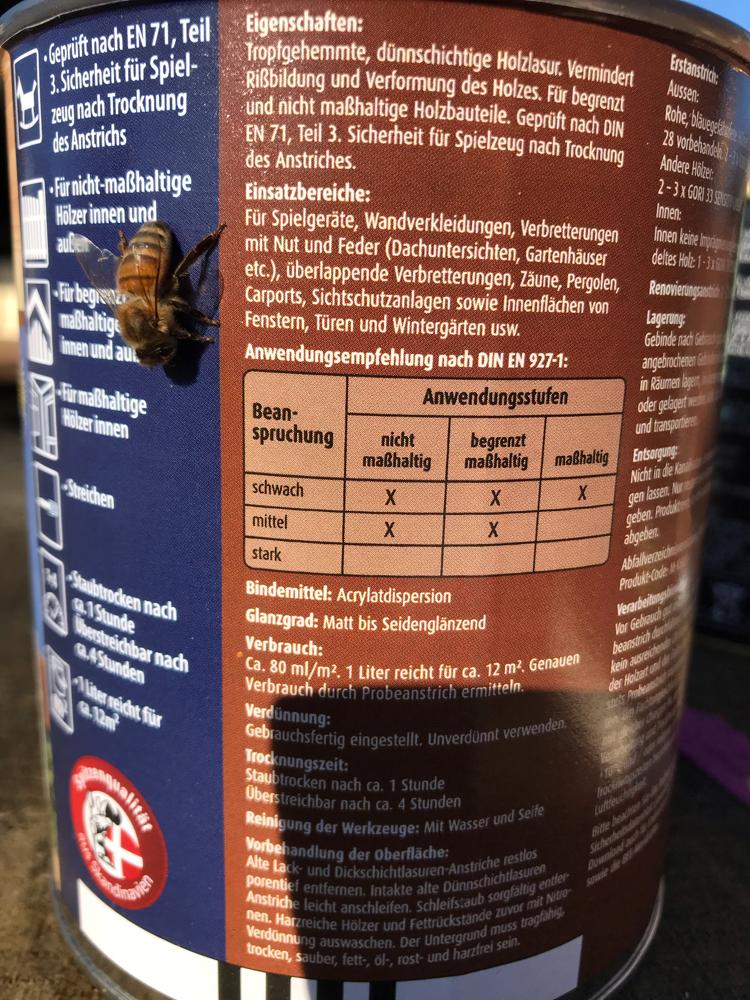 Frühlingserwachen bei den Bienen, auf Gori 33 stehen sie