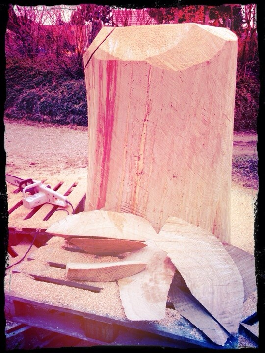 Eichenstammholz 120 Jahre