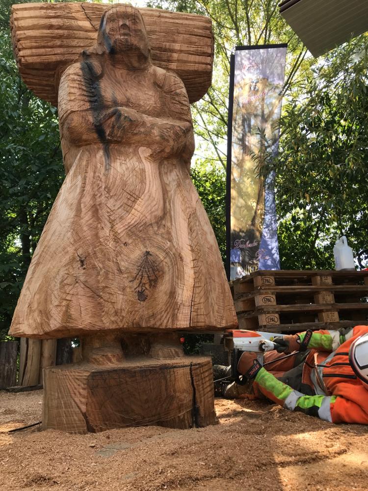 Holzsammlerin als Bienenstock