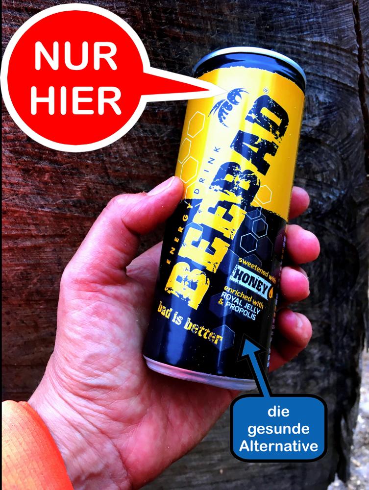 Beebad der Energy Drink aus Italien mit Power aus dem Bienenstock
