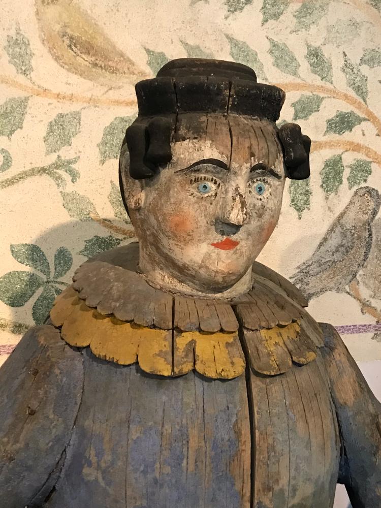 Historische Figurenbeute Strickerin, Museum für Volkskunst, Dresden