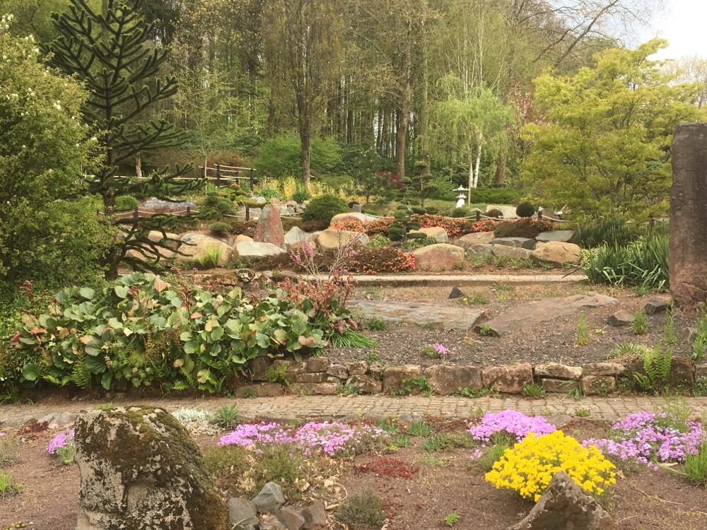 Steingarten im Natur- und Freizeitzentrum Finkenrech, Eppelborn, Heimat der Figurenbeute Ambrosius II