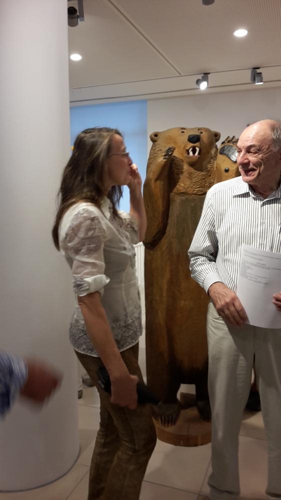 Wolfgang Mittwoch Museumsleiter des Zeidelmuseums Nürnberg/Feucht und ich bei der Ausstellungseröffnung