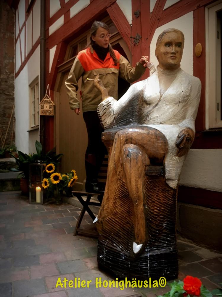 Sharon Stone im Honighäusla Nürnberg