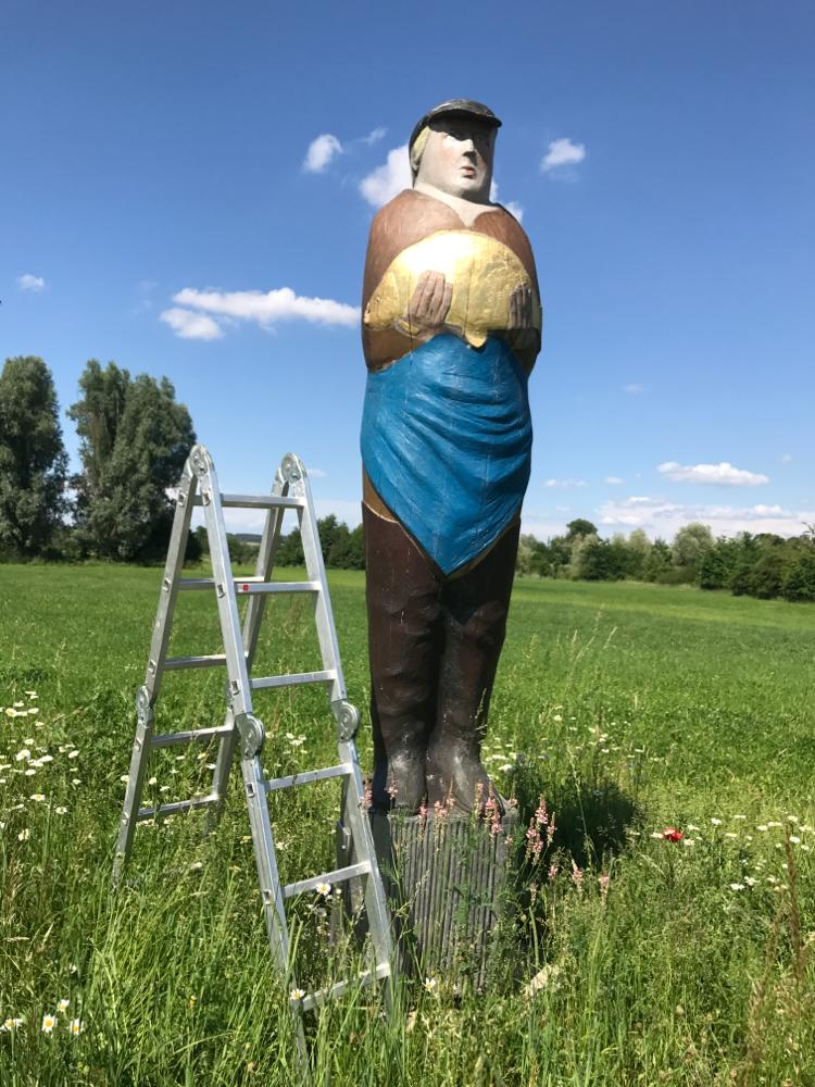 Figurenbeute Teichwirt im Aischgrund bei Diespeck