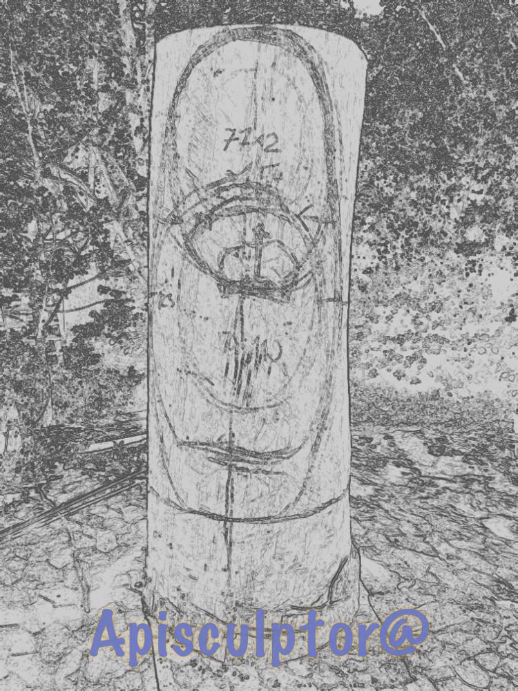 Konstruktionszeichnung шатрёшка in Eichenstammholz