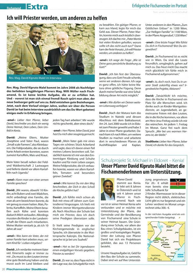 Schulprojekt für Kenia