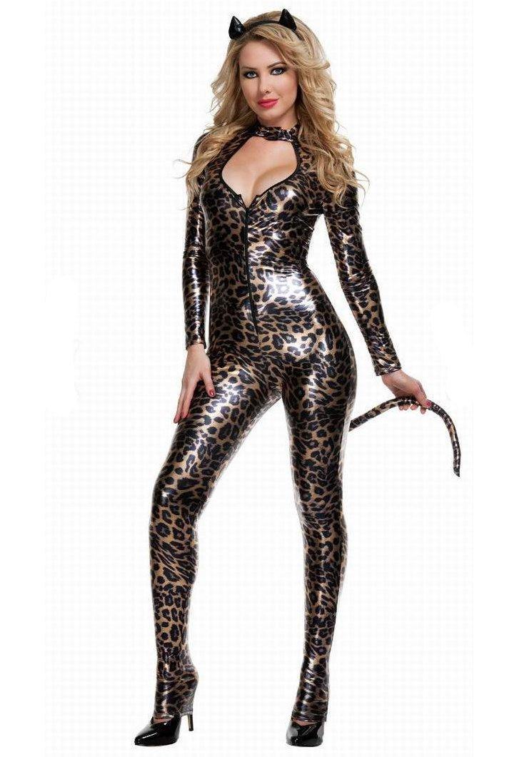 Женский костюм леопардовый доставка