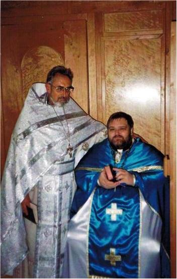 Игумен Митрофан (Хаузер) и иерей Павел Зонле, 2003 год