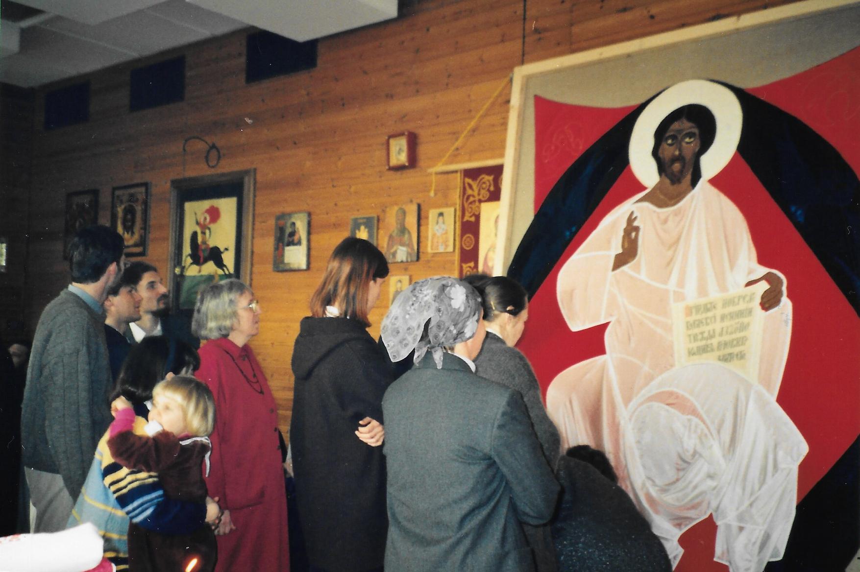 В дар нашему приходу - алтарная икона «Спас в Силах», 12 марта 2000 года