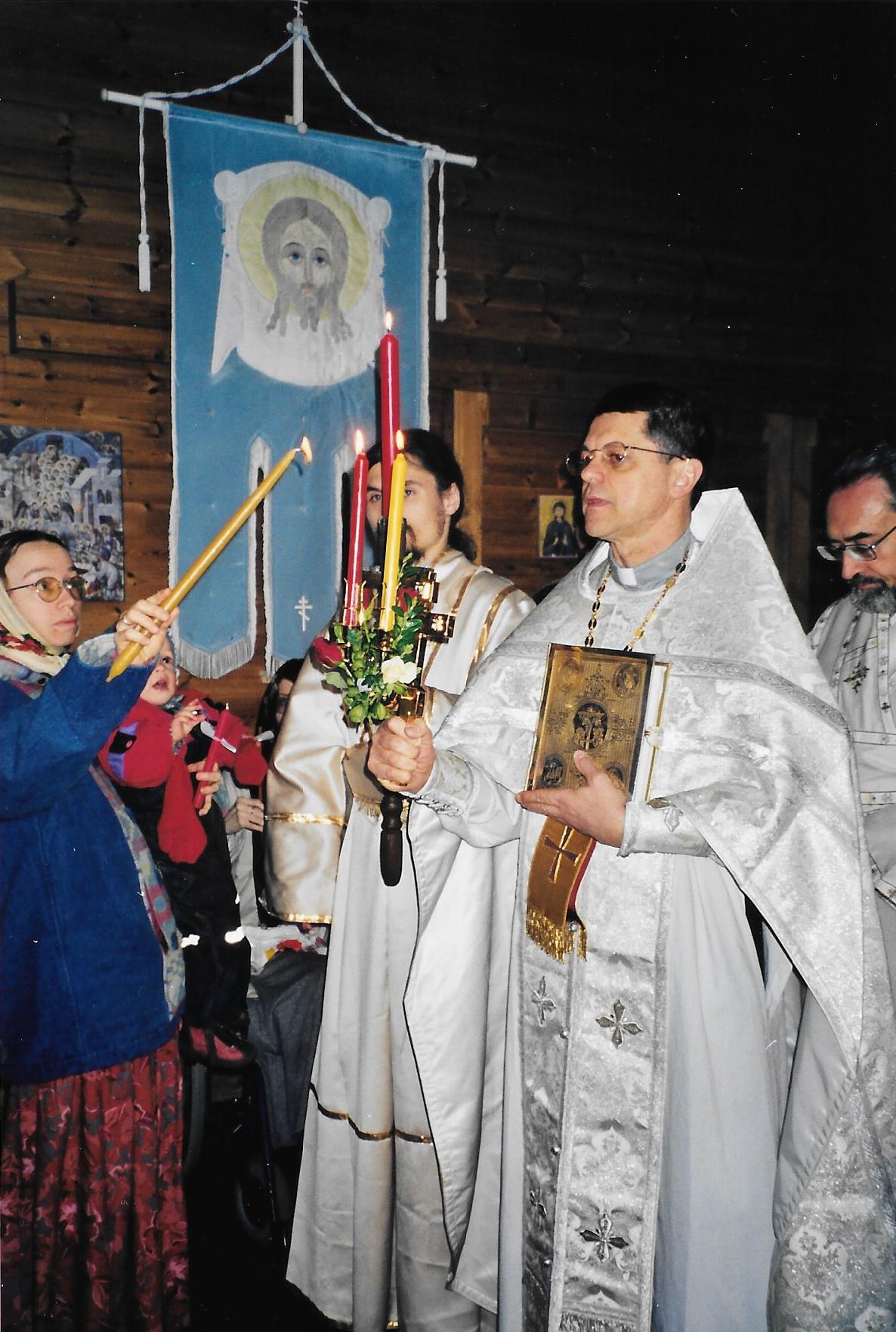 Пасха 2001 года. Священник Джон Стеферо