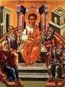 Christus lehrt als Kind im Tempel