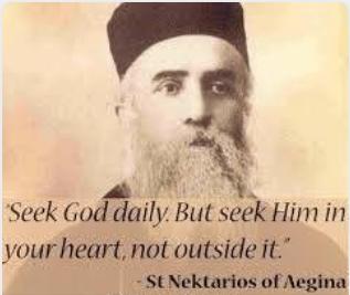 Hl. Nektarios: Sucht Gott täglich, doch sucht ihn in eurem Herzen nicht ausserhalb von ihm.