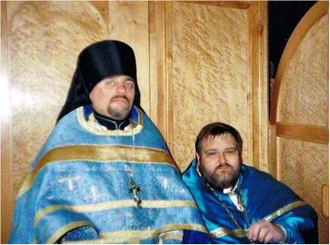 Игумен Митрофан (Хаузер) и иеромонах Павел (Кох), 2003 год