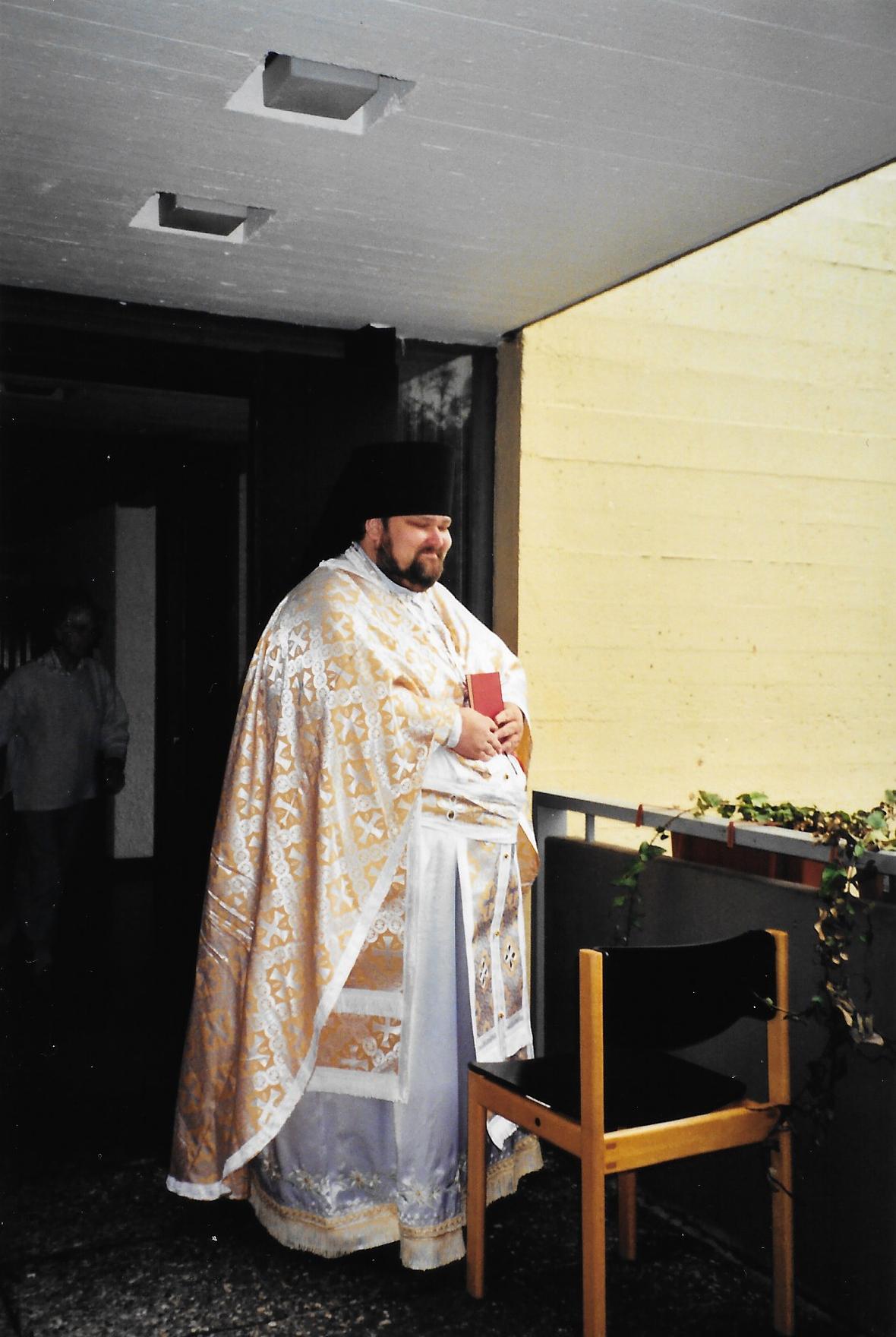 Пасха 2002 года. Игумен Митрофан (Хаузер)