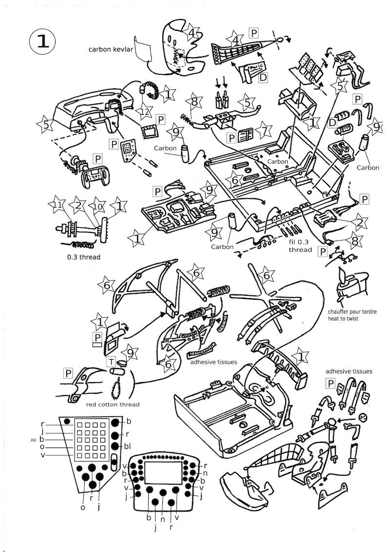 Page 1 de la notice du kit Porsche RSR 1/43