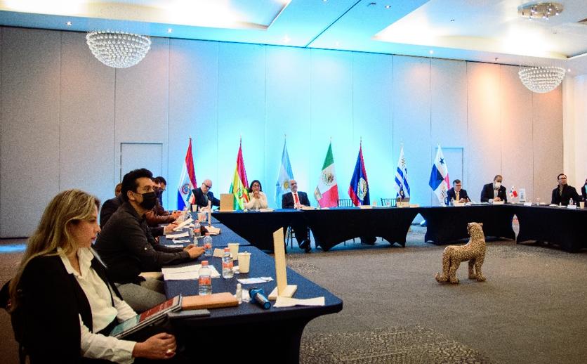 Los Embajadores de Argentina, Belice, Bolivia, Uruguay, el representante de la Embajada del Paraguay y el Cónsul de Panamá.