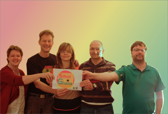 Nicole und Ralf Stege, Christine und Stefan Hardt, Arne Olchers. Es fehlen: Susanne und Ernst Vogelsang, Manuela Wiese und Aenne Heise